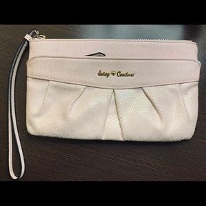 Juicy Couture Wristlet Pink Iridescent TWO Toned